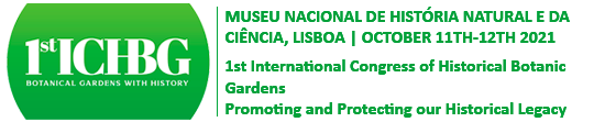 1st International Congress of Historic Botanical Gardens